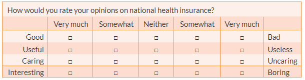 A semantic differential scale for measuring attitude toward national health insurance