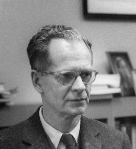 Black and white image of BF Skinner at Harvard