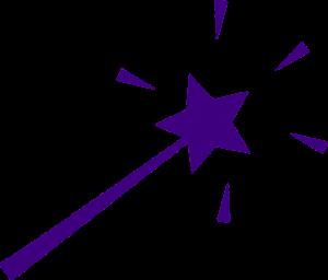 Purple magic wand