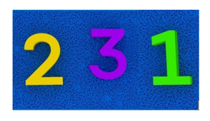Image of the numbers 231