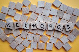 Scrabble letters that spell keyword