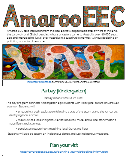 Screenshot of resource with the title Amaroo