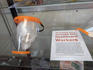 Face shield from the Darling Downs Personal Protective Equipment Project