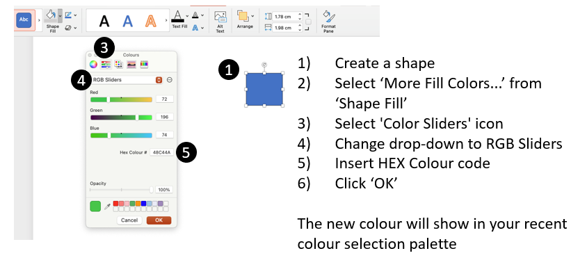 Changing colour in PowerPoint
