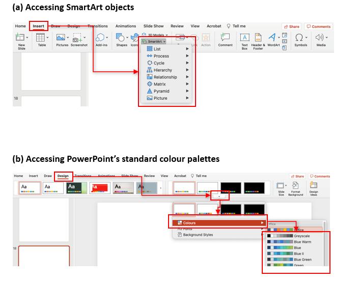 Design elements in PowerPoint
